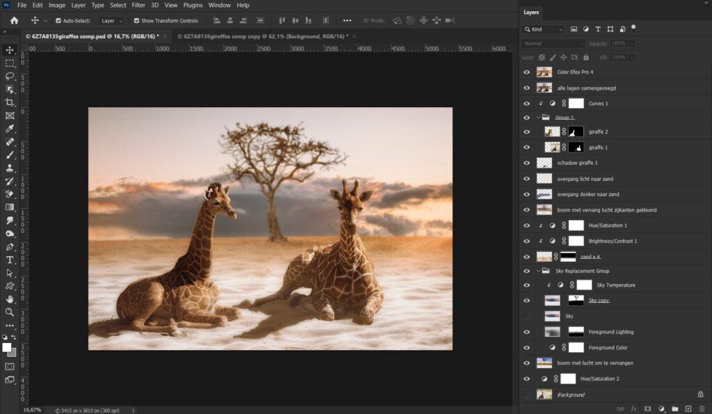 compilatie stappen photoshop